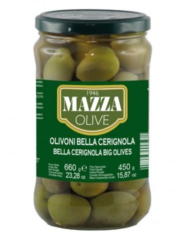 Big green olives CERIGNOLA Gr. 720