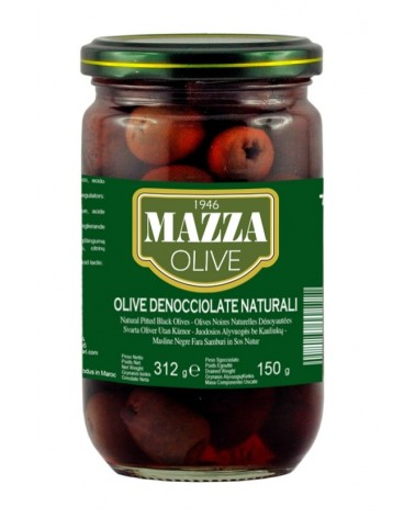 Natural Pitted black olives in pot ml 314