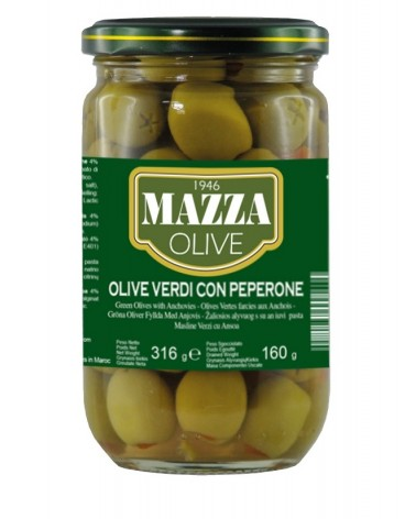 Stuffed green olives with pepper pot ml 314