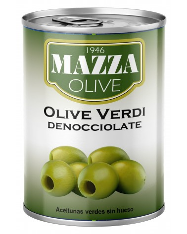 Pitted green olives Gr. 397
