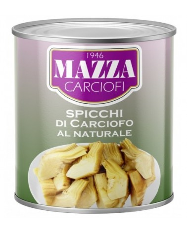 "Artichoke quarters in water ""Mazza"" 2500G"