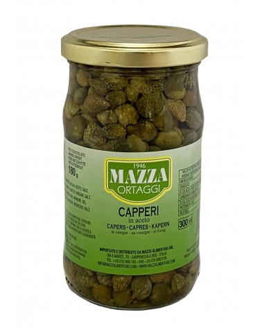 Capers in vinegar cal. 11 in pot ml 314