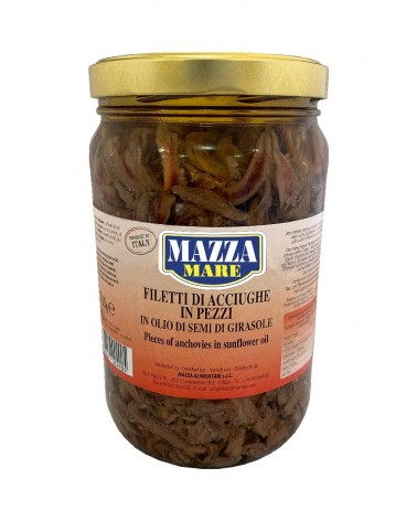 Anchovies pieces in oil kg 1.7