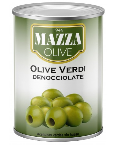 Pitted green olives tin 3-A/9