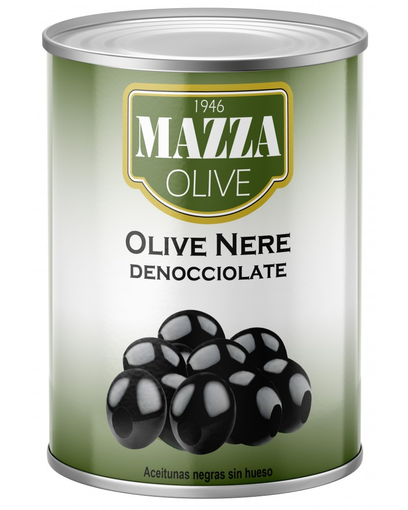 Pitted black olives tin 3-A/9